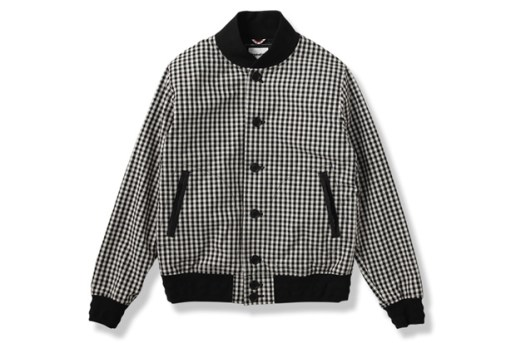 OriginalFake Gingham Varsity Jacket