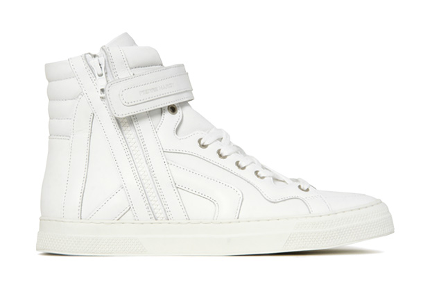 Pierre Hardy White High Top Sneaker