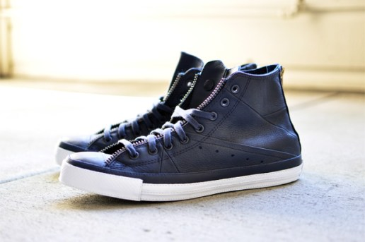 Schott NYC x Converse Chuck Taylor All Star Leather Jacket Navy