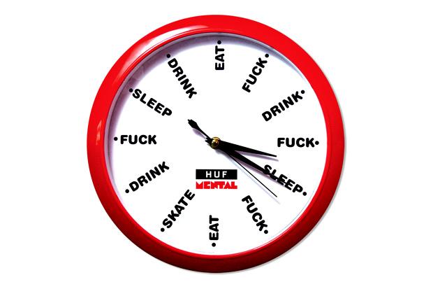 Skate Mental x HUF Wall Clock