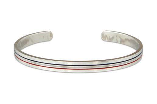 Thom Browne Silver Bangle Bracelet