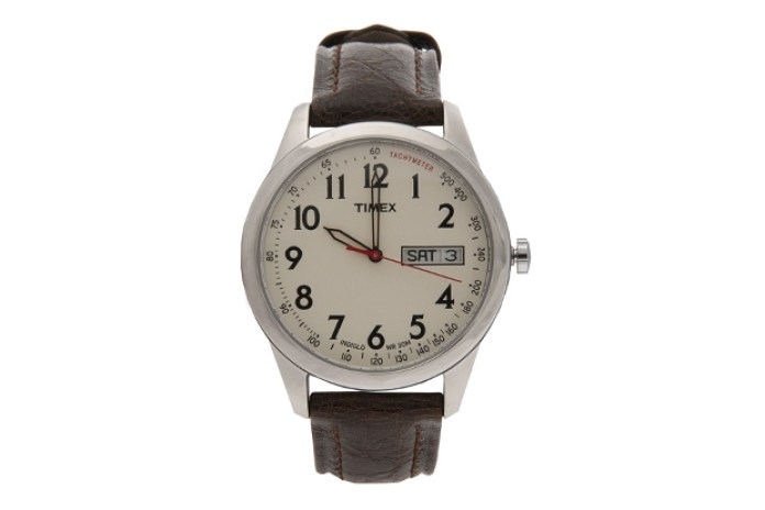 Timex for Club Monaco Brown Leather Field Watch
