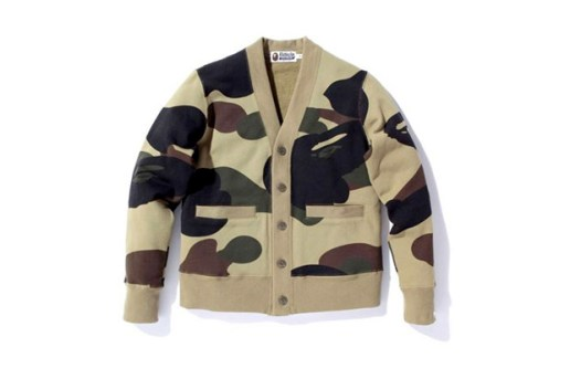 A Bathing Ape Giant 1st Camo Cardigan Sweat