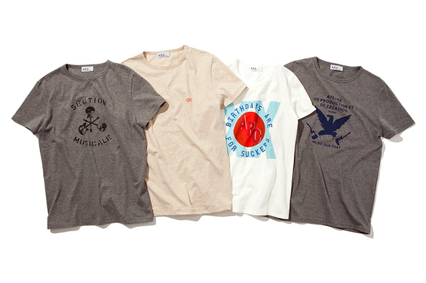 A.P.C. Japan 20th Anniversary T-Shirts
