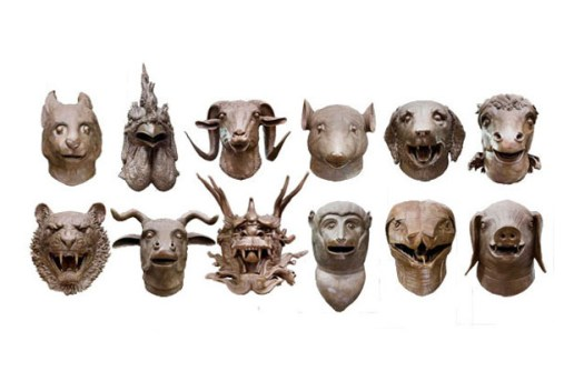 "Ai WeiWei ""Circle of Animals/Zodiac Heads"" Exhibition @ Pulitzer Fountain"