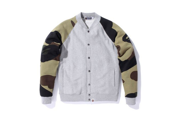 A Bathing Ape Giant 1st Camo Snap Button Cardigan Sweatshirt