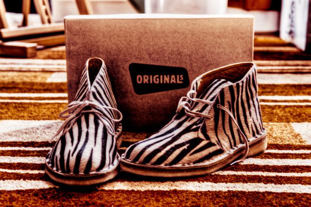 Clarks Originals Zebra Print Desert Boot