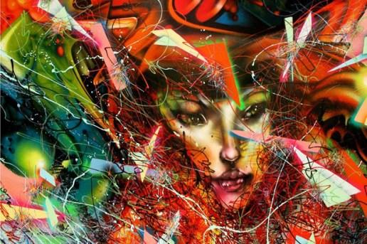 David Choe for Mark Zuckerberg Painting