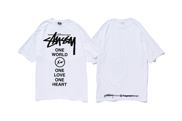 "fragment design x Stussy ""1 World, 1 Love, 1 Heart"" for Japan T-Shirt"