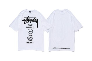 """fragment design x Stussy """"1 World, 1 Love, 1 Heart"""" for Japan T-Shirt"""