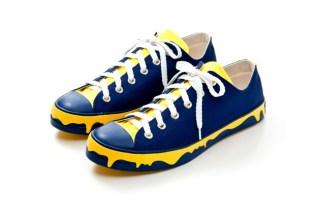 "ICECREAM ""Drippy"" Sneakers Navy/Yellow"