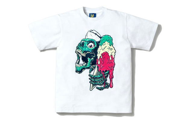 "ICECREAM ""Ice Screaming Skull"" T-Shirt"