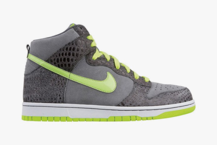 Nike Dunk High Cool Grey/Hot Lime