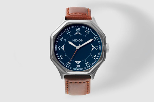 Nixon Falcon Leather Watch