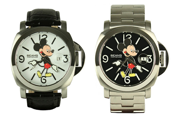 OVER THE STRiPES x Beams Mickey Mouse Watches