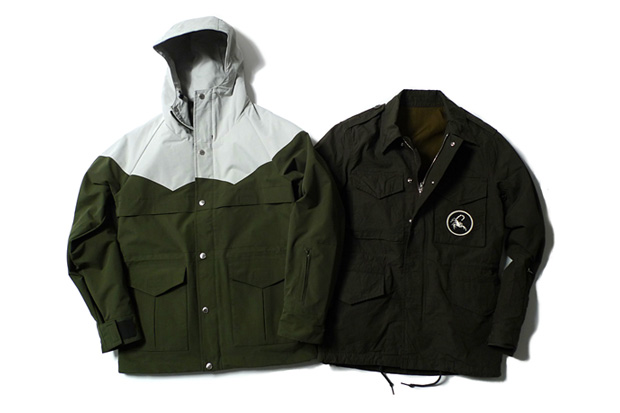 SOPHNET. 3 Layer Nylon 2 Tone Mountain Parka | Broad Military Cloth Field Jacket