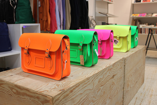 """The Cambridge Satchel Company for Dover Street Market """"Fluo"""" Collection"""