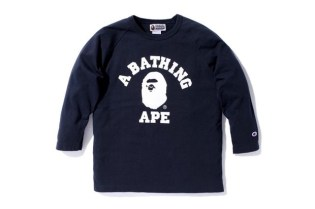 A Bathing Ape x Champion 3/4 Sleeve Shirt