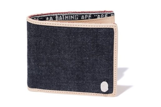 A Bathing Ape Denim Leather Wallet