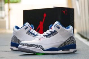 Air Jordan 3 White/True Blue