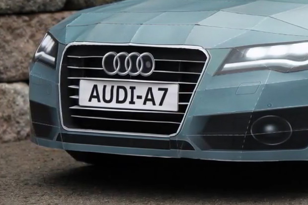 "Taras Lesko ""2012 Audi A7"" Papercraft Model"