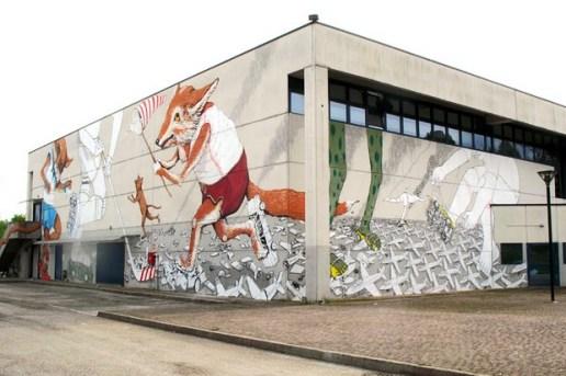 "Blu and Ericailcane ""Skating Team"" Mural"