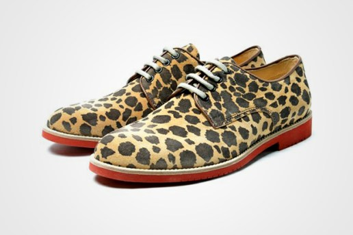Boemos Leopard Red Brick Oxford