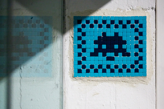 "Invader at MOCA ""Art in the Streets"""