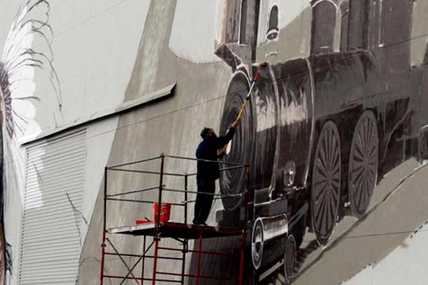 "Lee Quinones & co. ""Art in the Streets"" Mural"