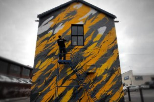 "SheOne x White Walls ""Black Lightning"" Mural"