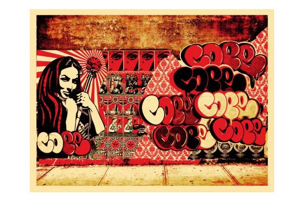 Shepard Fairey x COPE x Martha Cooper Print