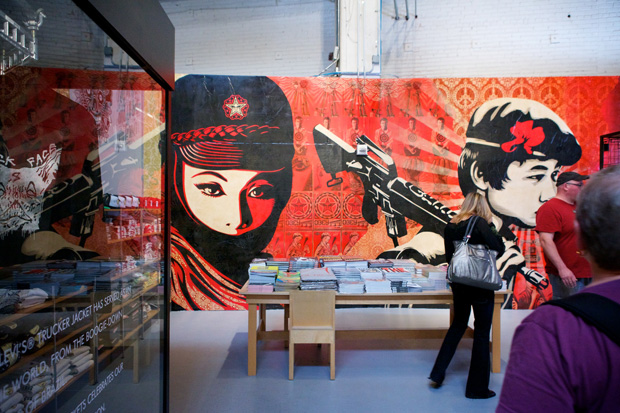 "Shepard Fairey at MOCA ""Art in the Streets"""