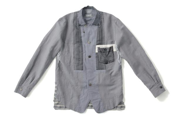 TAKAHIROMIYASHITA TheSololst. x Swarovski Elements Wide Collar Shirt