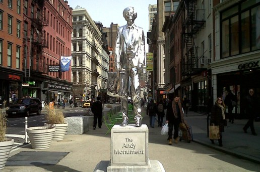 The Andy Monument in Union Square by Rob Pruitt