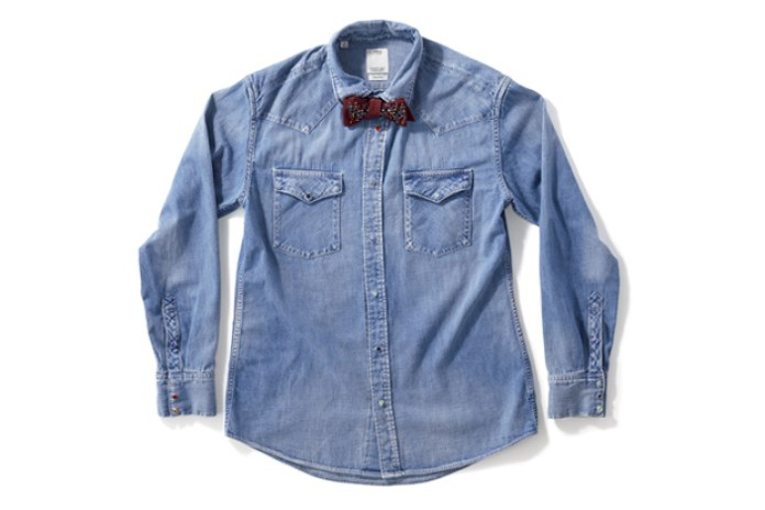 visvim x Swarovski Elements Bow Tie Denim Shirt