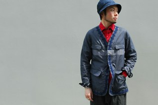 White Mountaineering N/C Herringbone Cable Embroidery Jacket