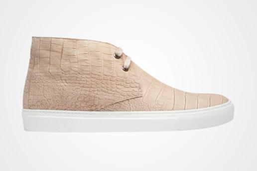 Yves Saint Laurent Croc Skin Chukka