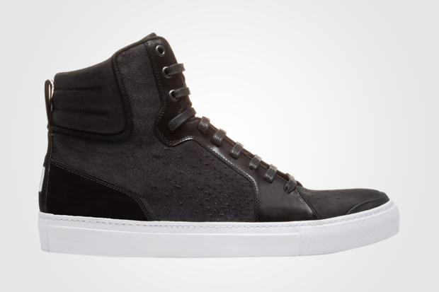 Yves Saint Laurent Destroyed Canvas Hi-Top