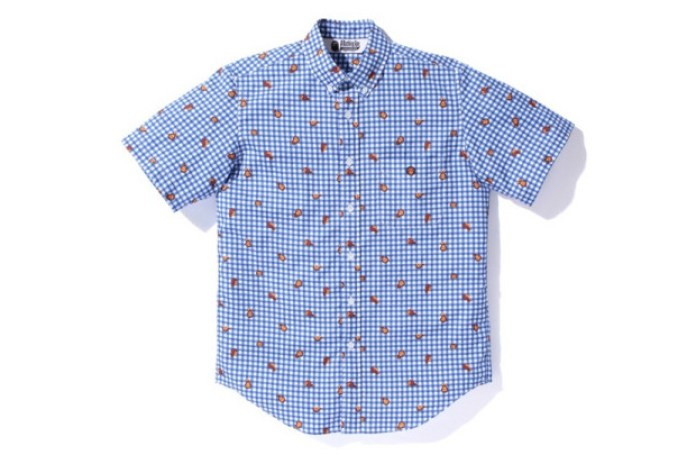 A Bathing Ape Baby Milo Gingham Short-Sleeve Button-Down Shirt