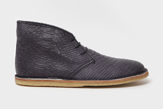 acne snakeskin chukka boot
