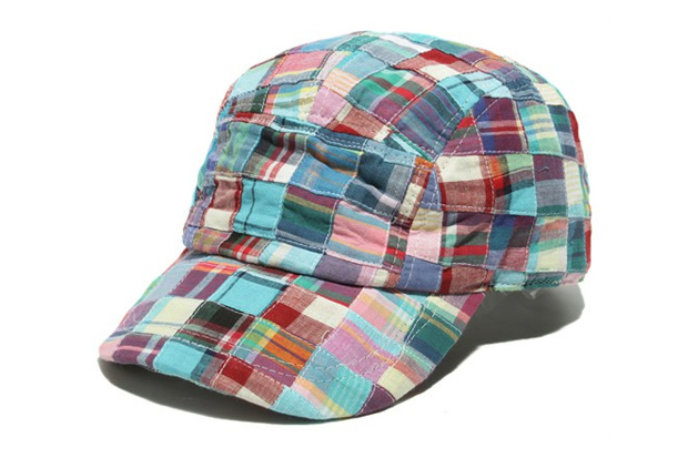 BEAMS Madras Patchwork 5 Panel Cap
