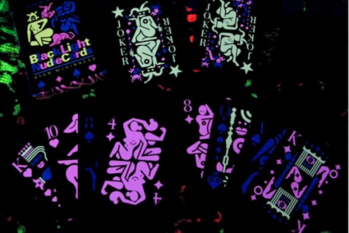 Blacklight Nudie Cards by Ryan McGinness