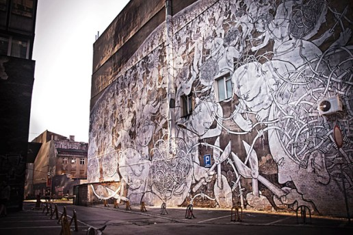 Blu Mural for Outer Spaces Festival