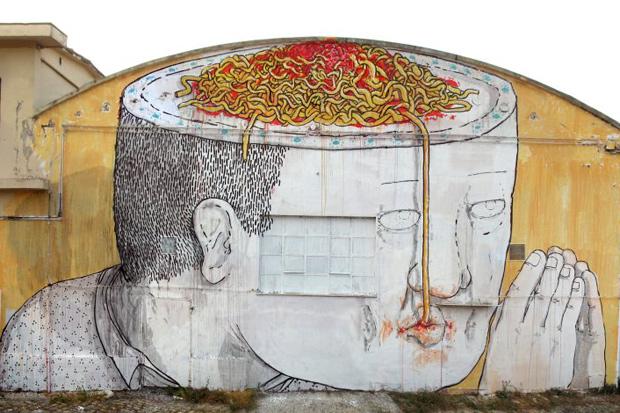 Blu Mural in Italy