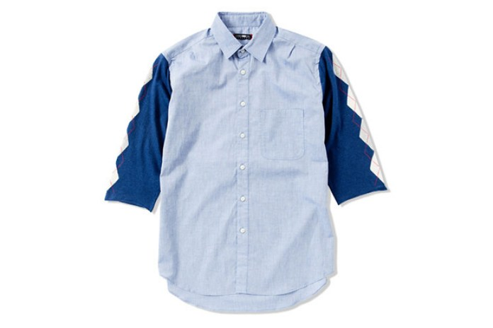 CASH CA KNIT SLEEVE 7S SHIRT