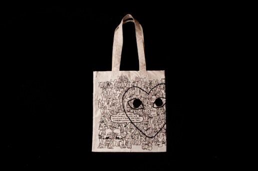 "COMME des GARCONS x Matt Groening ""Binky & Sheba PLAY"" Tote Bag"