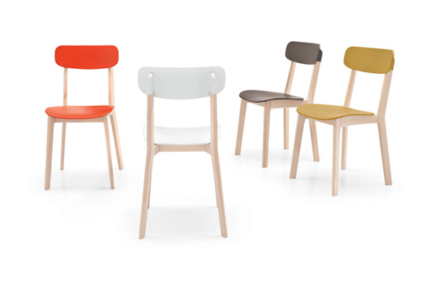 cream chair by mrsmith studio for calligaris