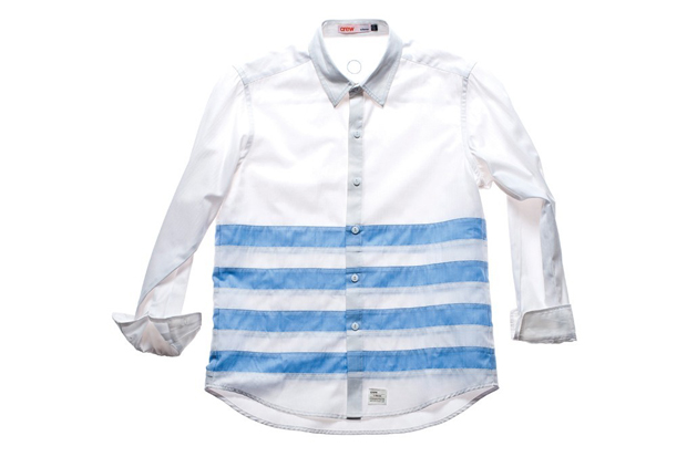 crew by subcrew wide stripes button down shirt