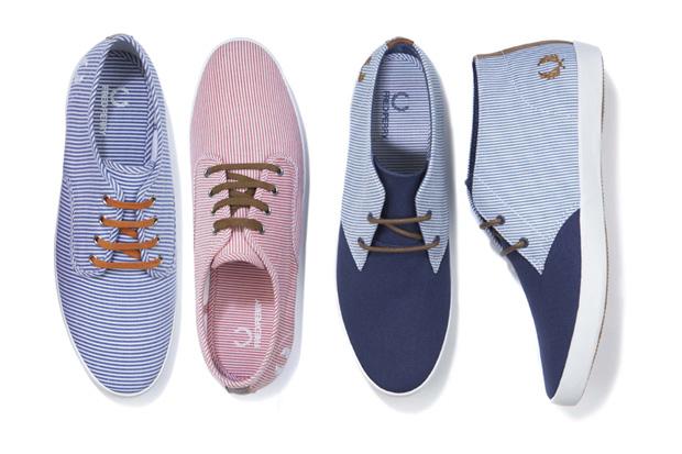 fred perry 2011 springsummer woven stripe footwear