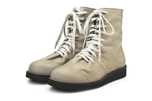 kris van assche skin lace up boots